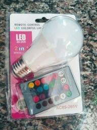 Título do anúncio: Lampada led RGB BRANCA E COLORIDA