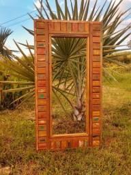 Moldura Rústica para Espelho Prince em Madeira de Demolição - Cód 1440