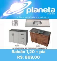Título do anúncio: BALCÃO 1,20 + PIA NOVO / AQUÁRIOS AQUÁRIOS AQUÁRIOS
