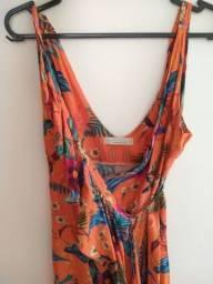 Título do anúncio: Vendo vestido transpassado Aquamar M (usado) R$35,00