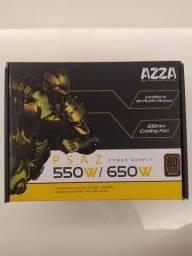 Fonte p/ desktop AZZA 650w 80 Bronze Plus // Usada // Perfeito funcionamento