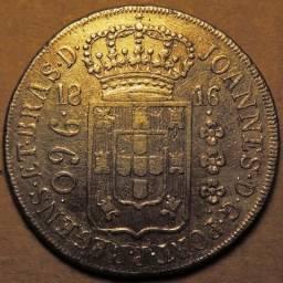 Lindo e escasso 960 réis 1816 R. Base a pesquisar. Frete grátis