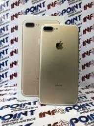 Só hoje Iphone 7 Plus 128GB Gold - Seminovo - Loja niterói