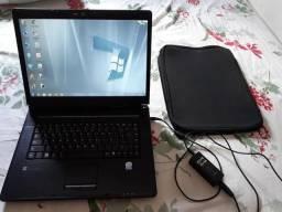 Notebook Itautec, tela 15,4 bem conservado, funcionando normalmente Tela 15,4 HD 320gb