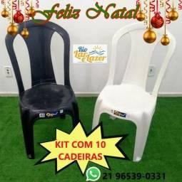 Promoção de Kit com 10 cadeiras de Plástico!