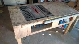 Mesa de serra portátil adaptada mais gabaritos