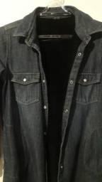 Jaqueta imita Jeans. Tecido maleável de usar