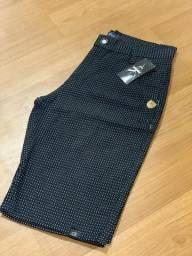 Bermuda Masculina Jeans e Brim