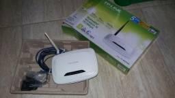 Roteador Wifi 150Mbps Tp-Link na Caixa com Todos os Acessórios