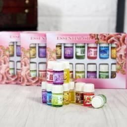Kit 12 Óleos Perfumados Para Aromaterapia e Difusores Aromáticos