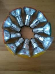Lote com 10 lâmpadas Par 20 halógenas