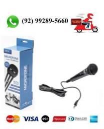 Microfone Profissional com fio de 03 Metros Knup KP-M0011