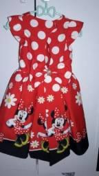 Vestido da minnie vermelha para festa de um ano e tiara mãe e filha