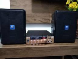 Caixas Lw3 e amplificador