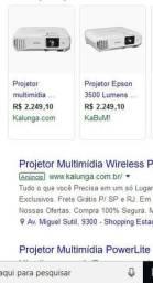 Projetor epson power litle 24+ Preço bem abaixo estado de Novo