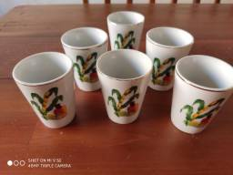 Conjunto copos de porcelana