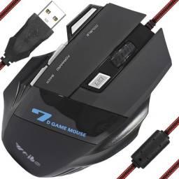 Mouse Gamer Óptico 3600 Dpi 7 Botões Usb 3.0 Led