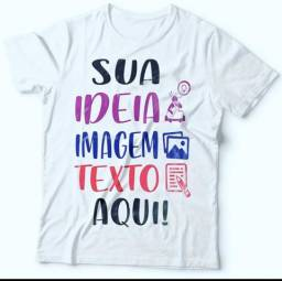 Camisas personalizadas poliester R$ 10,00
