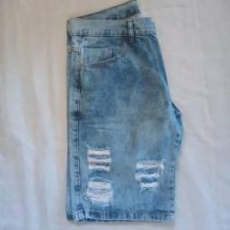 Bermudas Jeans e elastano