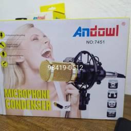 Microfone c/ fio condensador c/ sup andowl 7451
