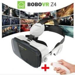 Óculos 3D e Realidade Virtual - BoboVR Z4 com Fones + Controle Remoto