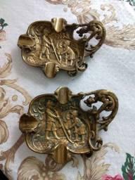 Cinzeiro antigo de bronze.valor unidade