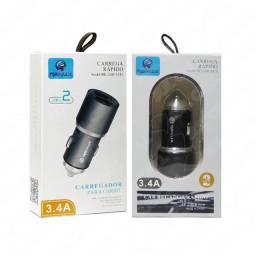 Carregador Fonte Veicular 5v 3.4A Usb Duplo