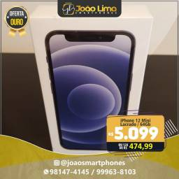 IPHONE 12 MINI, 64GB, NOVO, LACRADO, OFERTAAAA