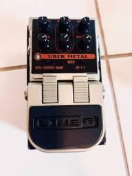 Pedal de Distorção Line6 Uber Metal guitarra