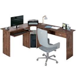 Mesa Escrivaninha Estação de Trabalho Max Marrom