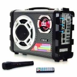 Título do anúncio: Micro System Caixa Som Amplicada Rca Mp3 Usb Karaoke Sd Hifi