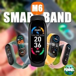 Título do anúncio: M6 Smart Band - Sua Foto Na Tela! (Preto e Rosa)