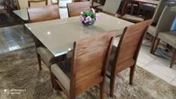 Título do anúncio: Mesa de madeira e madeira maciça pronta entrega 4 lugares