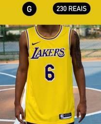 Título do anúncio: Regata Nike Nba 2021 Promoção - Lakers Amarela