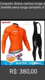 Conjunto de frio ciclismo STRAVA