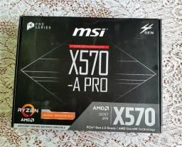 Título do anúncio: Placa mãe Msi x570 Pro
