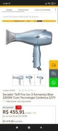 Título do anúncio: Secador Taiff Fox Ion 3 Kompress Blue 2200W Com Tecnologia Cerâmica<br><br>
