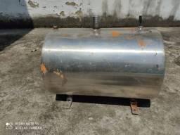 Tanque de combustível horizontal inox 125litros
