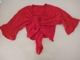 Título do anúncio: Blusa de amarração- M (Usada) R$15,00