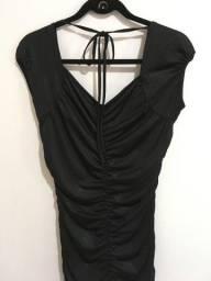 Título do anúncio: Vestido preto tubinho drapeado