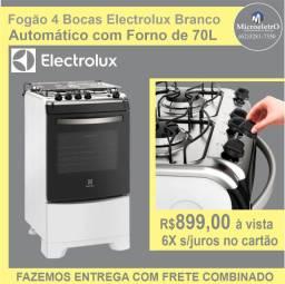 Fogão 4 Bocas Electrolux Branco  Automático com Forno de 70L