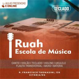 Aula de Música Presencial e on-line Violão I Teclado I Canto I Bateria