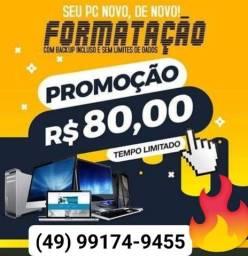 Título do anúncio: Formatação na promoção 80,00