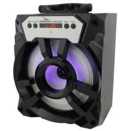 Caixa De Som Portatil Amplificada Bluetooth Usb P2
