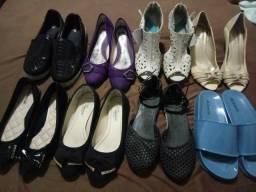 Calçados e bolsas femininas para revenda em brechó