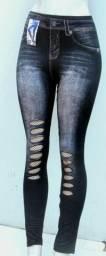 Calça legg ( Imitaçao de jeans )