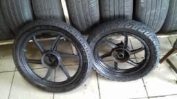 Rodão e pneus zero da pop 110