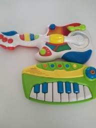 Guitarra e teclado