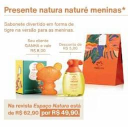 Presentes Naturé meninos(as) com sabonete Grátis
