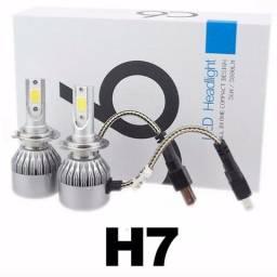 Lampada Farol Led Xenon H7 6000k 7200 Lumens Cooler (NOVO), usado comprar usado  Salvador